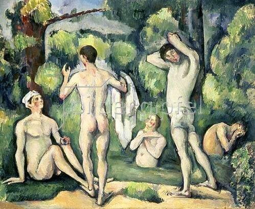 Paul Cézanne: Fünf Badende.
