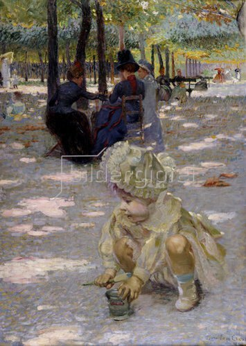 Henri Edmond Cross: An einem August-Nachmittag im Jardin de Luxembourg.