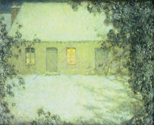 Henri Le Sidaner: Winterabend.
