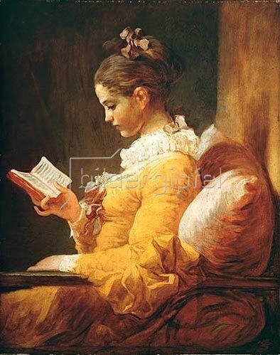 Jean Honoré Fragonard: Lesendes Mädchen. Um 1776