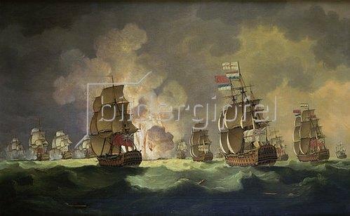 Thomas Luny: Nächtliche Seeschlacht bei St.Vincent (am 16.Januar 1780).