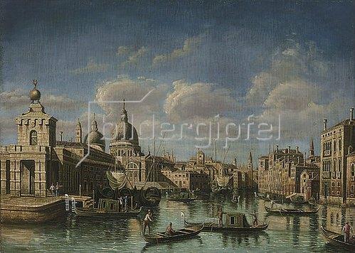 Canaletto (Giov.Antonio Canal): Am Beginn des Canale Grande in Venedig.
