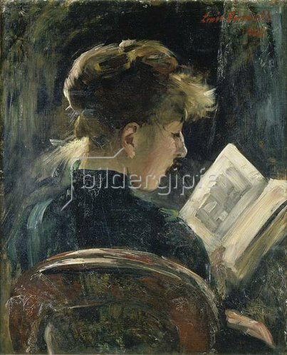 Lovis Corinth: Lesendes Mädchen. 1888.