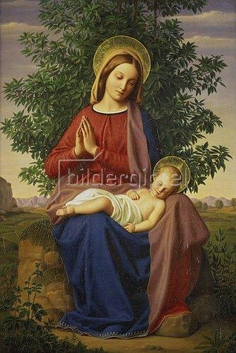 Julius Schnorr von Carolsfeld: Madonna mit Kind.