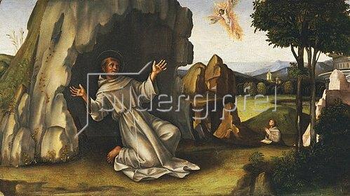 Francesco (Raibolini) Francia: Der hl. Franz von Assisi erhält die Wundmale.