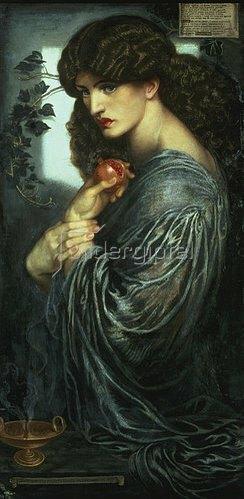 Dante Gabriel Rossetti: Proserpina. 1877.
