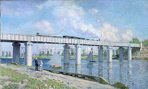 Claude Monet: Die Eisenbahnbrücke von Argenteuil.