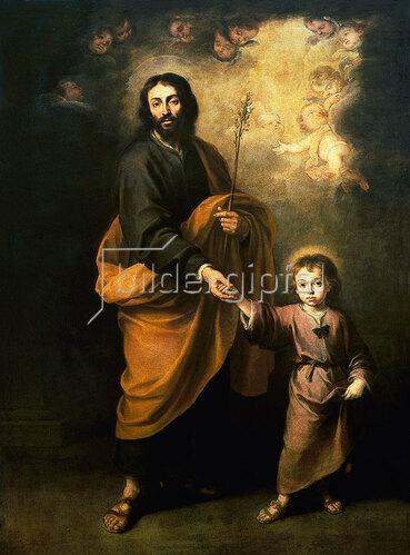 Bartolomé Estéban Murillo: Der hl.Joseph mit dem Jesusknaben.