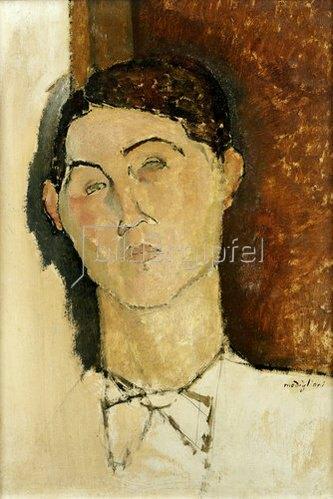 Amadeo Modigliani: Kopf eines jungen Mannes.