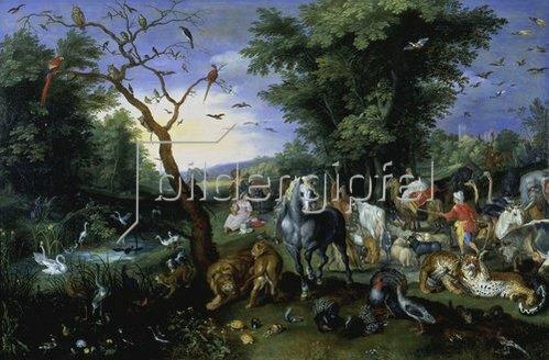 Jan Brueghel d.J.: Der Einzug der Tiere in die Arche Noah