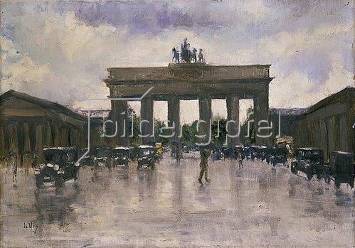Lesser Ury: Das Brandenburger Tor in Berlin.