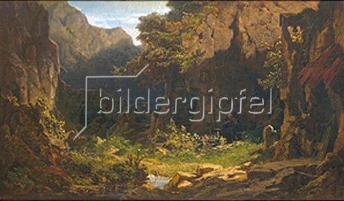 Carl Spitzweg: Einsiedler, Violine spielend. Vor 1863