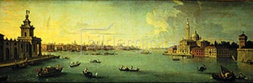 Antonio Joli: Panorama des Bacino di San Marco, Venedig.