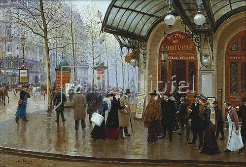 Jean Béraud: Vor dem Theater de Vaudeville in Paris.