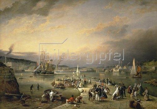 Richard Brydges Beechey: Der Hafen von Plymouth.