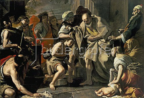 Mattia Preti: Samuel salbt David.