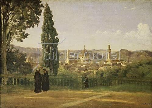 Jean-Baptiste Camille Corot: Florenz, Blick über die Boboli-Gärten (1835/40).