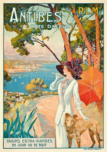 David Dellepiane: Antibes, Côte d'Azur. Um 1910