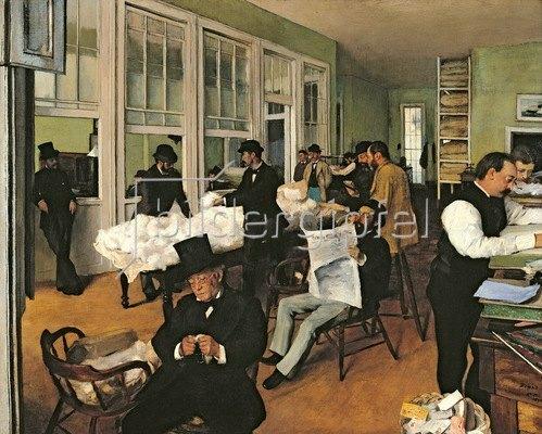 Edgar Degas: The Cotton Exchange, New Orleans, 1873