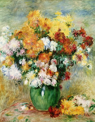 Auguste Renoir: Ein Bouquet von Chrysanthemen