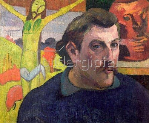 Paul Gauguin: Selbstportrait  mit gelbem Christus, 1890