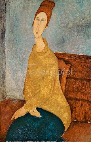 Amadeo Modigliani: Jeanne Hebuterne in einem gelben Pullover, 1918-19