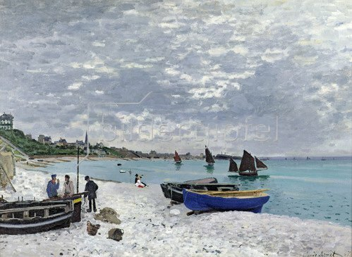 Claude Monet: Der Strand von Sainte-Adresse, 1867