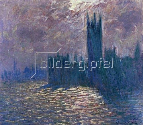 Claude Monet: Houses of Parliament, London, Reflektionen auf der Themse, 1905