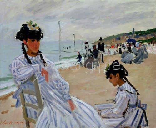 Claude Monet: Auf dem Strand von Trouville