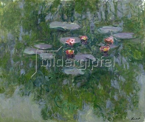 Claude Monet: Nympheas, Wasserlilien, 1916-19