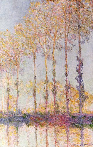 Claude Monet: Pappeln am Ufer der Epte, 1891