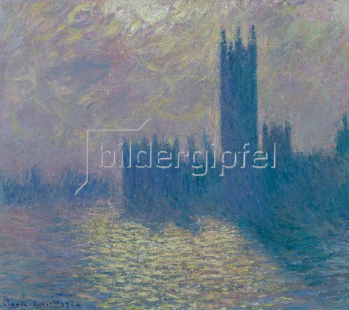 Claude Monet: The Houses of Parliament, Stürmischer Himmel, 1904