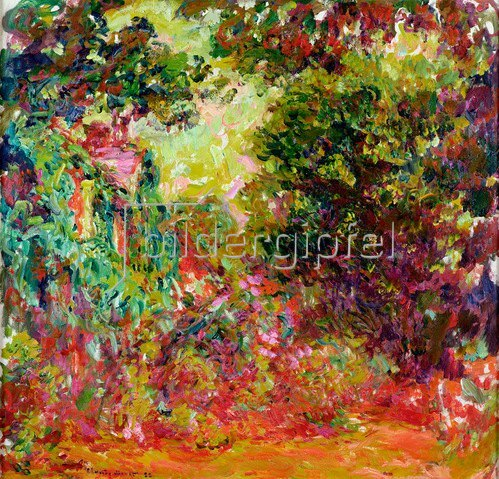 Claude Monet: Monets Haus, Rosengarten, 1922-24
