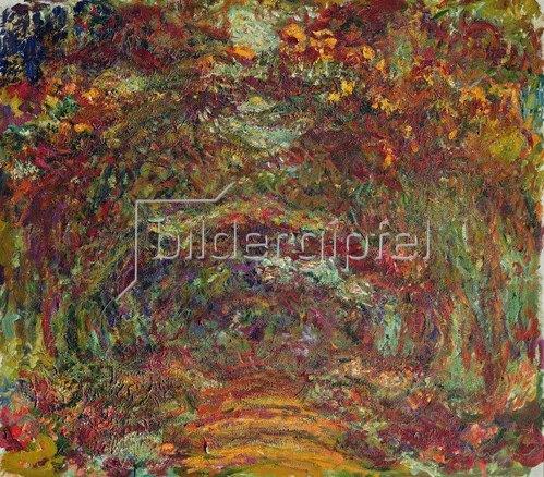 Claude Monet: Der Rosenpfad, Giverny, 1920-22