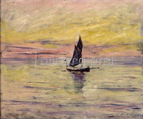 Claude Monet: Segelboot, Abendstimmung, 1885