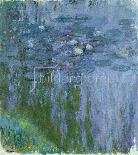 Claude Monet: Nympheas, Wasserlilien, seerosen, 1916-19