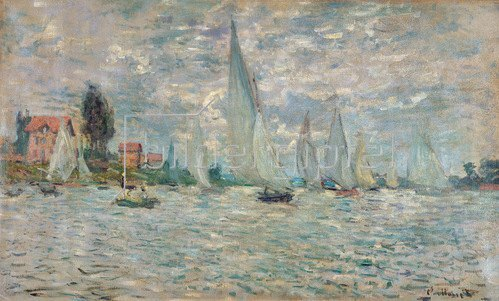 Claude Monet: Die Boote, Regatta at Argenteuil, 1874