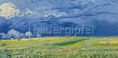 Vincent van Gogh: Weizenfelder unter Gewitterwolken