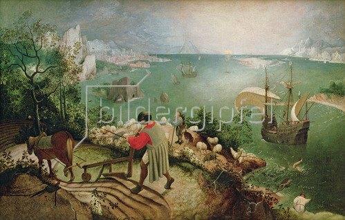 Pieter Brueghel d.Ä.: Der Fall des Ikarus, 1555