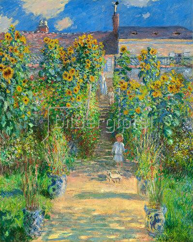 Claude Monet: Der Garten des Künstlers in Vétheuil. 1881.