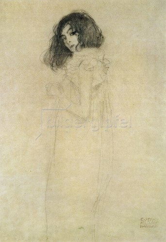 Gustav Klimt: Portrait einer jungen Frau, 1896