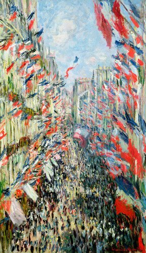 Claude Monet: Rue Montorgueil, Paris, Celebration of June 30, 1878