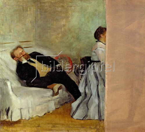 Edgar Degas: Monsieur and Madame Edouard Manet, 1868