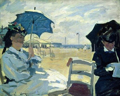 Claude Monet: Der Strand bei Trouville, 1870