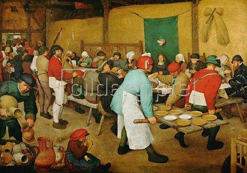 Pieter Brueghel d.Ä.: Bauernhochzeit, 1568