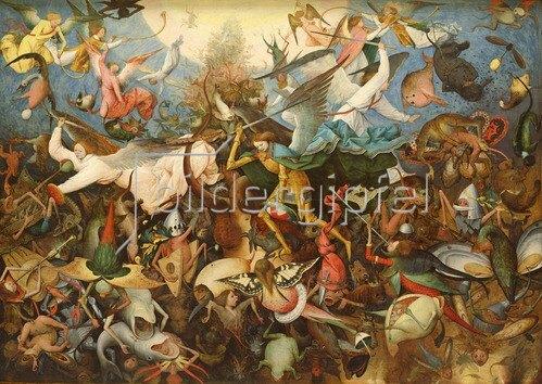 Pieter Brueghel d.Ä.: Fall rebellischer Engel, 1562