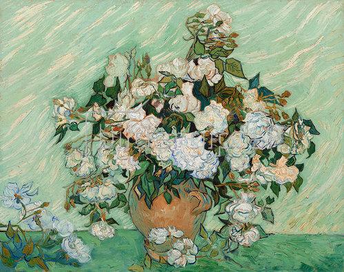 Vincent van Gogh: Vase mit Rosen