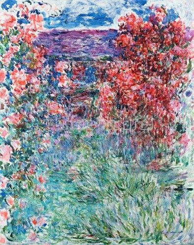 Claude Monet: Das Haus in Giverny unter Rosen, 1925