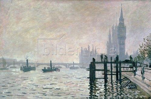 Claude Monet: Die Themse unterhalb von Westminster, 1871