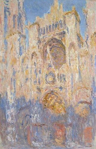 Claude Monet: Kathedrale von Rouen, Sonnenlicht, Sonnenuntergang, 1892
